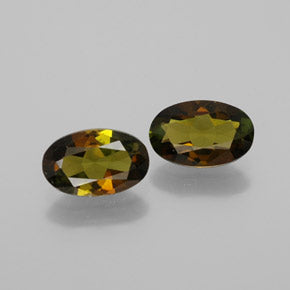 1.72 ct (total) Oval Facet Golden Green Tourmaline 7.9 x 5.1 mm