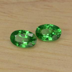 0.89 ct (total) Oval Facet Green Tsavorite Garnet 6 x 3.9 mm