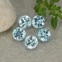 2.66 ct (total) Diamond-Cut Blue Zircon 4.6 mm