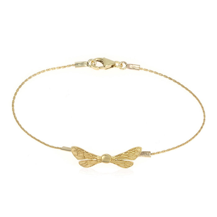 Honey Bee Wings Delicate 14K Gold-Plated Bracelet - Anniversary Gift for Her