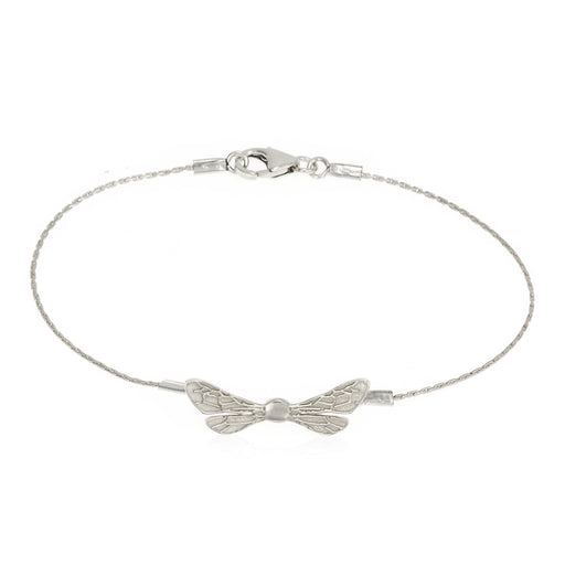 Dainty Honey Bee Wings Bracelet, .925 Sterling Silver, Bat Mitzvah Gift