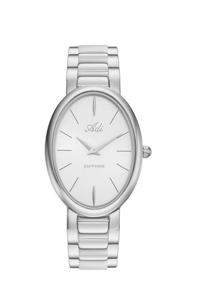 ADI Classic Silver Women's Watch with Sapphire Glass