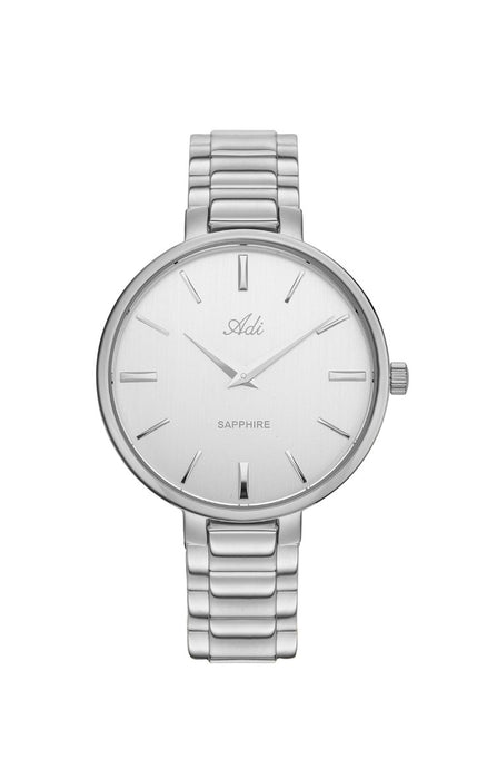 ADI Classic Silver Women's Watch, Round Case - Sapphire Glass