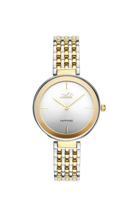 ADI Gold & Silver Women's Watch with Sapphire Glass
