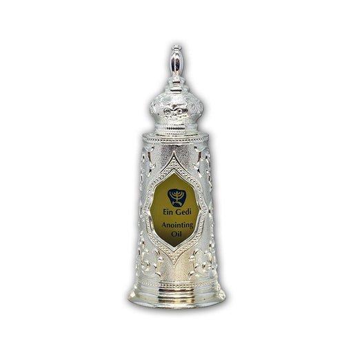Ein Gedi Anointing Oil in Decorative Silver Case