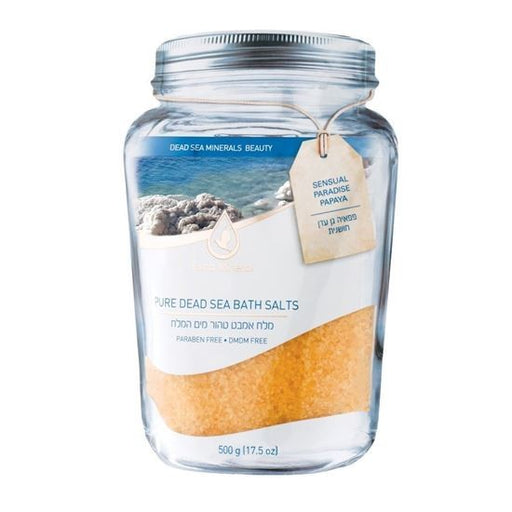 Extra Mineral Pure Mineral Dead Sea Bath Salts - Stress Relief - Sensual Paradise Papaya Scented
