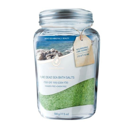 Extra Mineral Pure Mineral Dead Sea Bath Salts - Stress Relief - Lime-Sorbet Scented