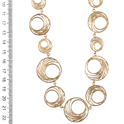 Bell Hoop Necklace with 11 Hoops