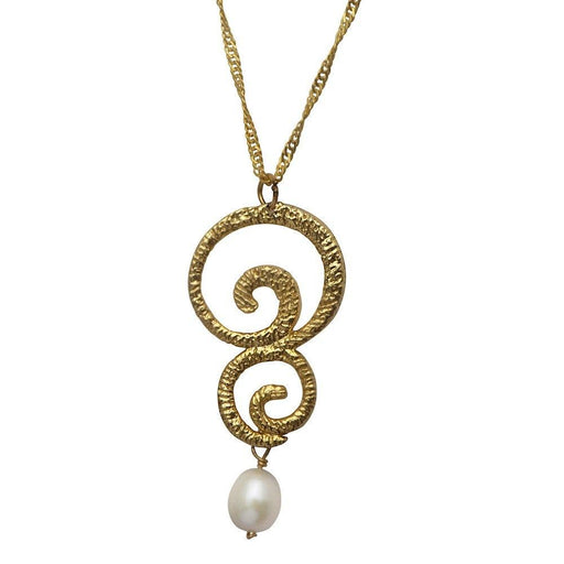 Golden Eternity Drop 14K Gold Necklace With A Pearl