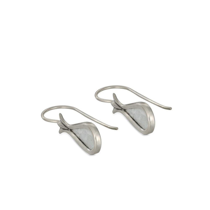 David's Harp 925 sterling silver & Roman Glass Earrings