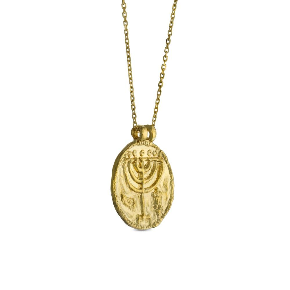 Menorah Medallion Necklace