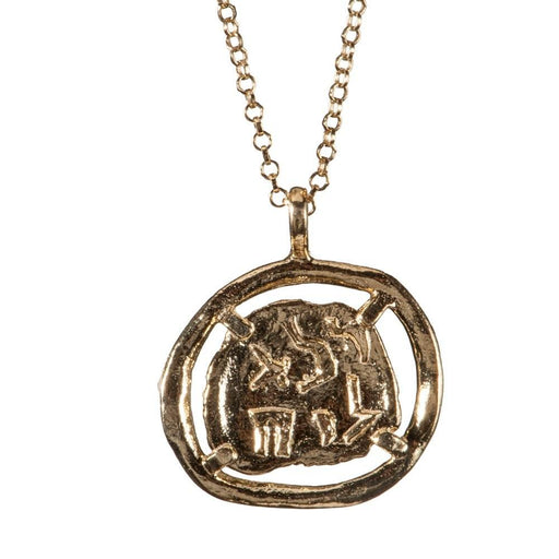 Pure For God Gold Coin Necklace.