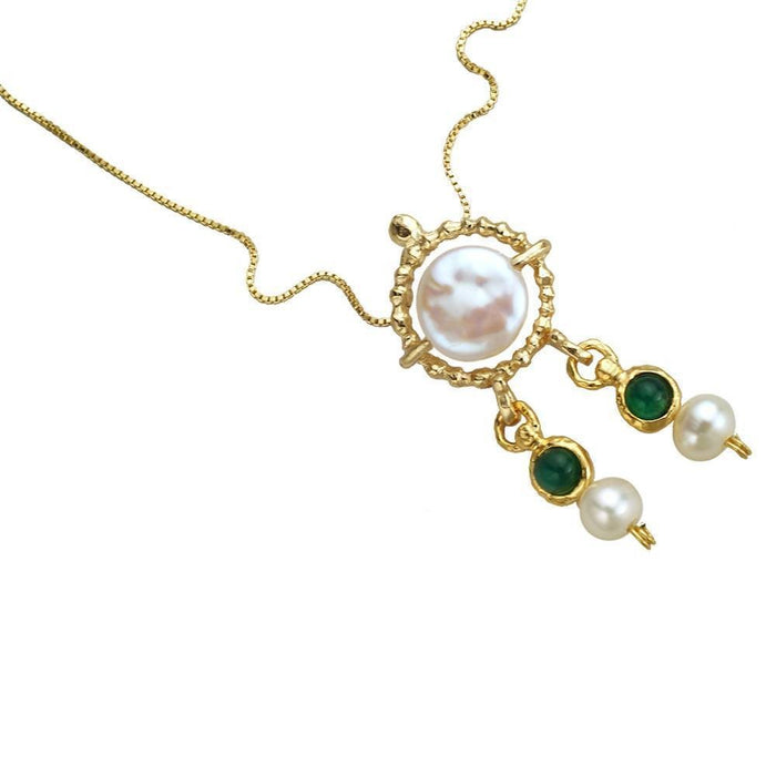 Queen Helene Necklace, 14K Gold Plated Silver