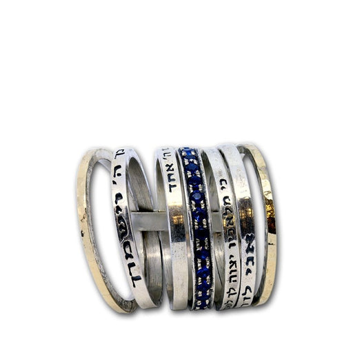 Bible Verse Scripture-Engraved Multi-Strand Stacking Ring