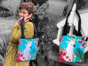'Botanical Birds' Tote Bag