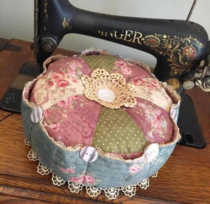 'Vintage Sewing Cushion'