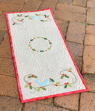 'Holly Berry Bluebird' Table Runner Kit