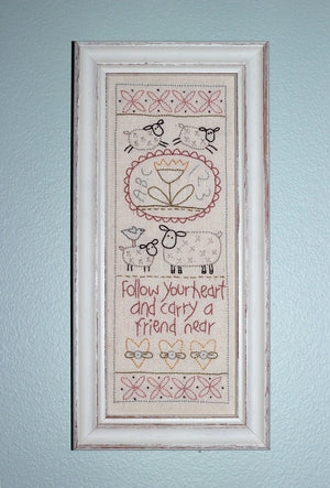 'Follow your Heart' Stitchery