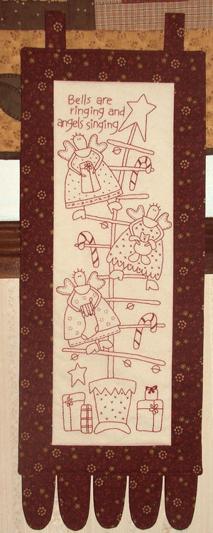 'Christmas Angels' Stitchery