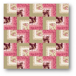 'Corner Log Cabin' Quilt PDF Download