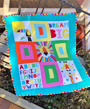 'Safari Alphabet' Quilt Kit