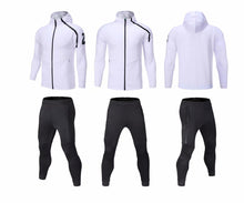 Load image into Gallery viewer, Full Hooded Tracksuit -  Hooded White with no 23
