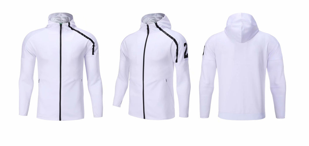 Full Hooded Tracksuit -  Hooded White with no 23