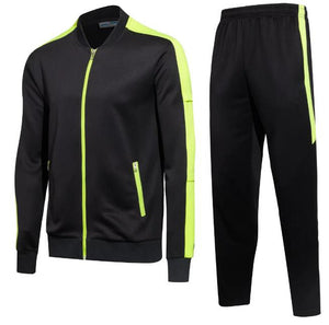 Full Tracksuit -  Lime Green trim and Black