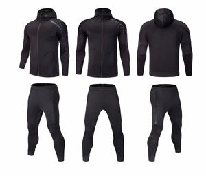 Full Tracksuit -  Black with Hooded Top