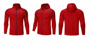 Full  Hooded Tracksuit -  Hooded Red.