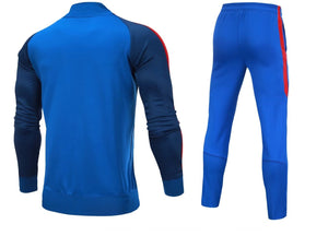 Full Custom Tracksuit -  2 tone Blue top with Red Trim