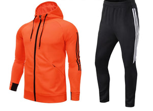 Full Hooded Tracksuit -  Hooded Orange.