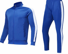 Load image into Gallery viewer, Full Tracksuit -  All blue with white trim.