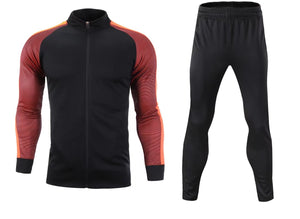 Full Custom Tracksuit -  Black and Shaded Orange