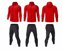 Load image into Gallery viewer, Full  Hooded Tracksuit -  Hooded Red.