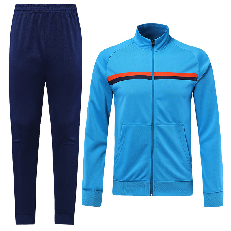 Full Tracksuit -  Sky Blue with orange stripe