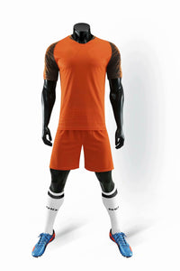 Full Football Kit -  Orange with Shock Black and Orange Sleeve Detail