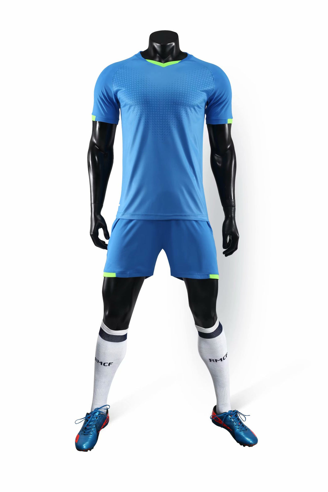 Full Football Kit - Plain Blue.