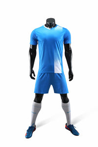 Full Football Kit - Sky Blue with White Detail.