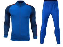 Load image into Gallery viewer, Full Custom Tracksuit -  2 tone Blue top with Red Trim