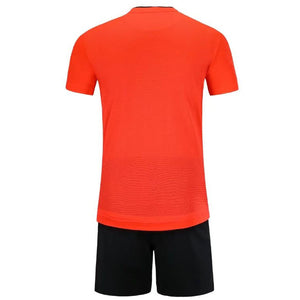 Full Football Kit -  Red 3D Line and Check Stripe Design
