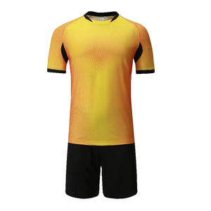 Full Football Kit - Gold with Black Shorts.