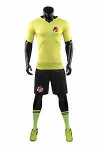 F5 Exclusive Full Football Kit - Yellow and Black Shorts