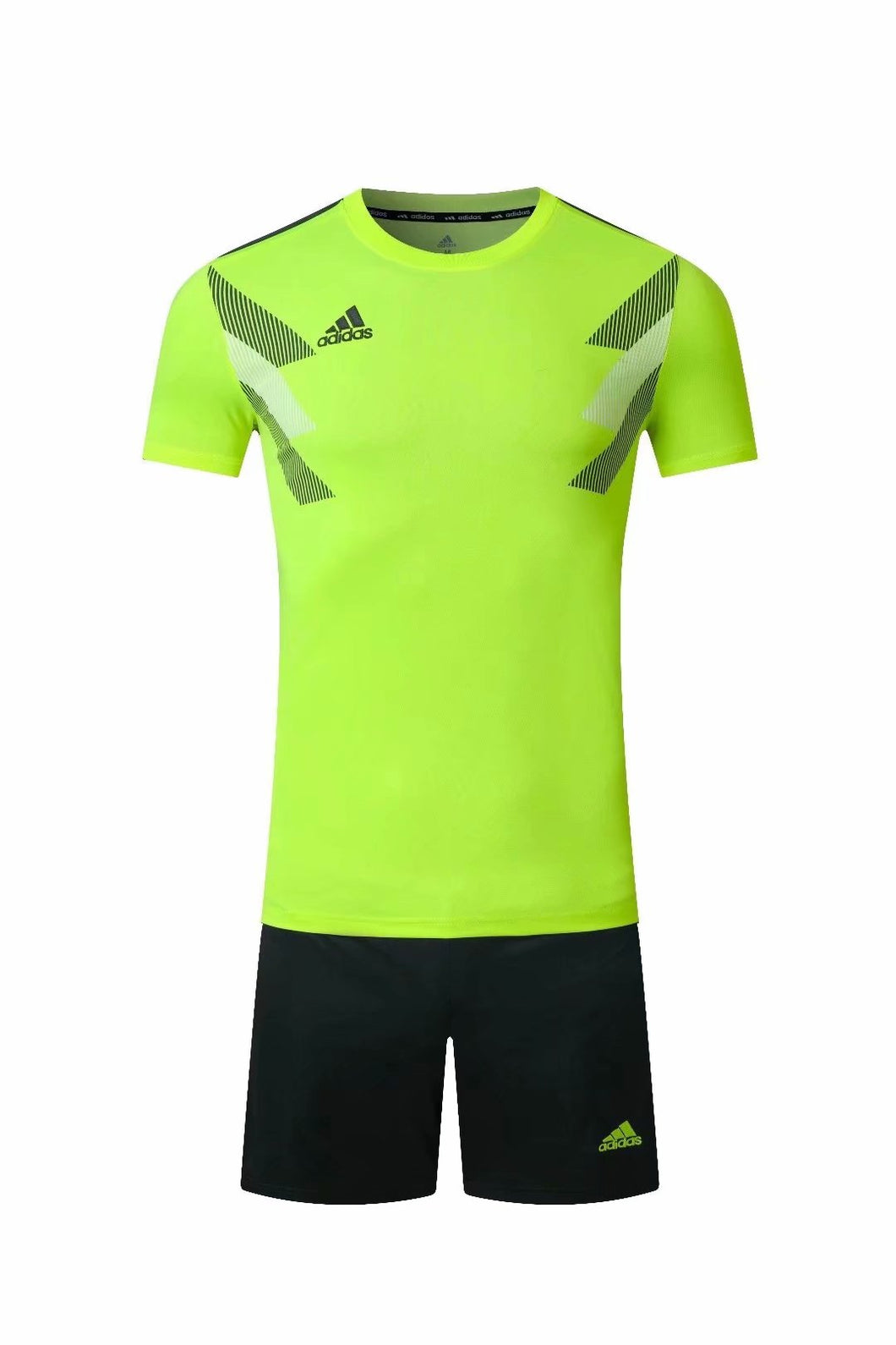 Adidas Full Football Kit Adult Sizes only - Green with Grey and White Chest graphic