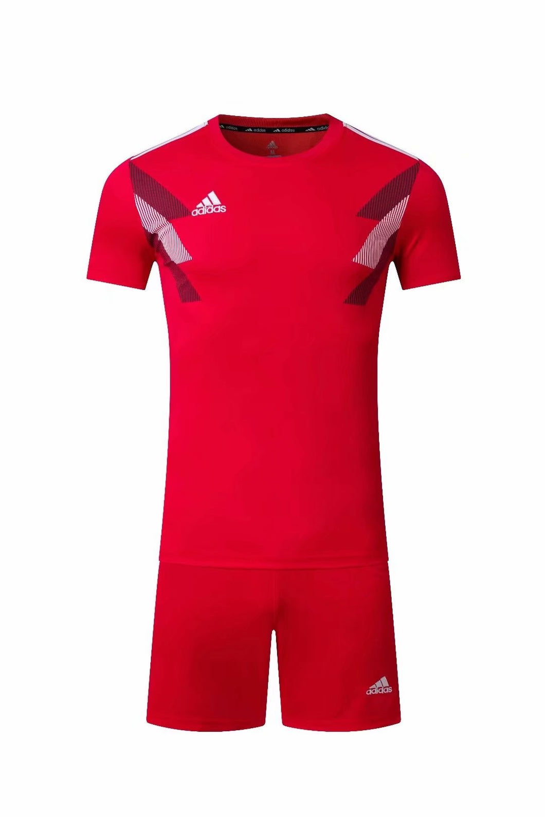 Adidas Full Football Kit Adult Sizes only - Red with Black and White Chest graphic