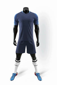Full Football Kit - Deep Blue with Royal Blue Trim.