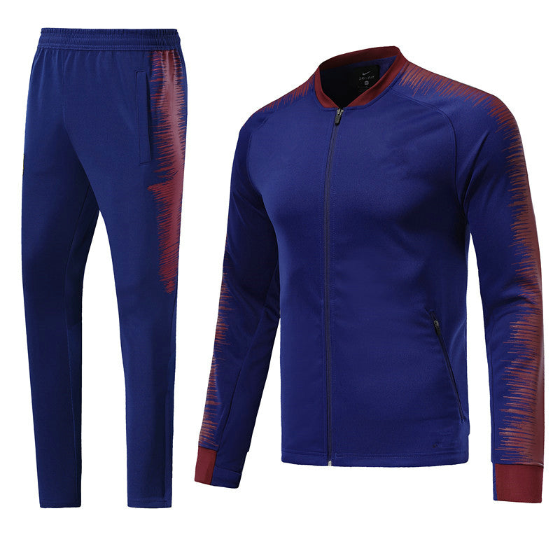 Full Custom Tracksuit -  Royal Blue and Red.