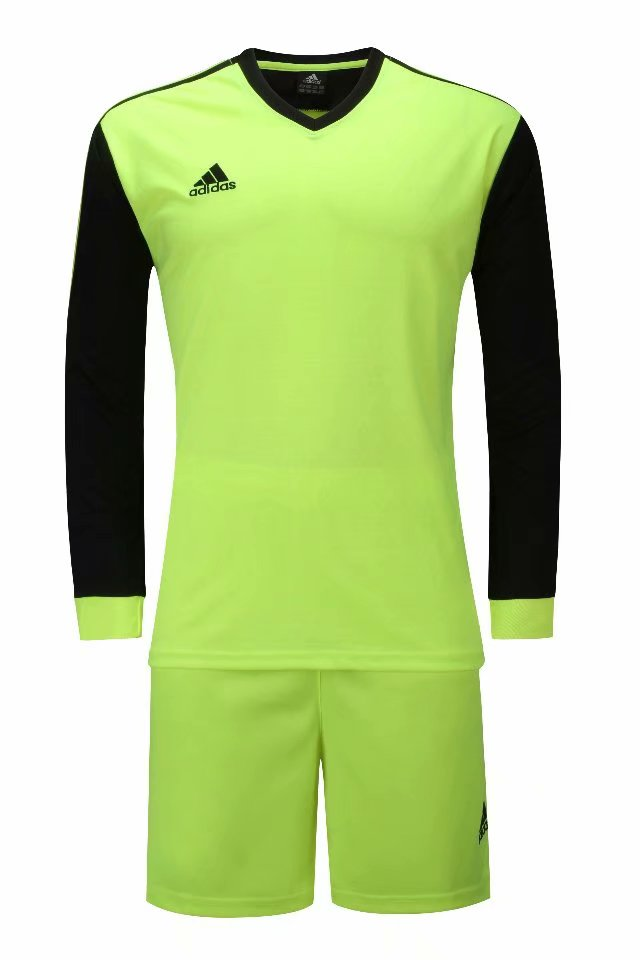Adidas Full Football Kit Adult Sizes only - Green with Black sleeves