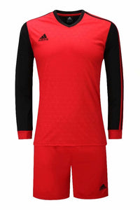 Adidas Full Football Kit Adult Sizes only - Red with Black sleeves