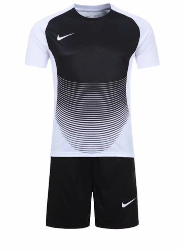 Nike Full Football Kit Adult Sizes only - Royal Blue and White with Horizontal Lines Detail